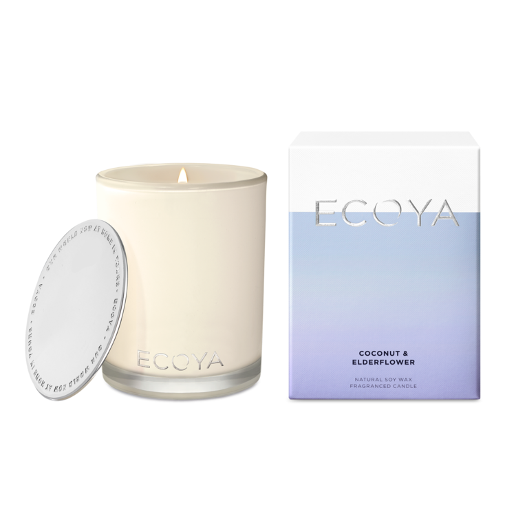 Ecoya Madison Candle - Coconut & Elderflower - Rosie's Gifts and Homeware