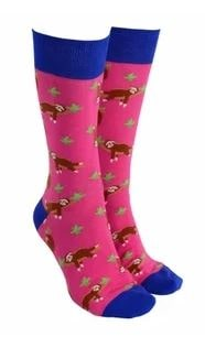 Sock Society - Socks - Sloth - Pink - Rosie's Gifts and Homeware