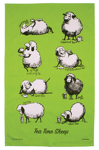 Tea Towel - Tea Time Sheep - Rosie's Gifts and Homeware - Gift Shop NZ