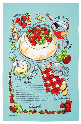 Tea Towel - Pavlova - Rosie's Gifts and Homeware - Gift Shop NZ