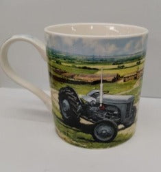 Mug - Light Blue Tractor - Rosie's Gift Shop and Homeware