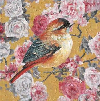Canvas - Rose Robin