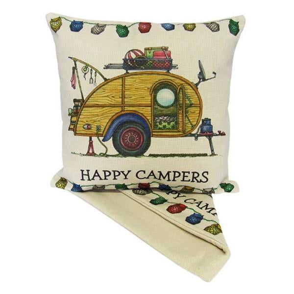 Happy Campers Cushion - Vintage Life