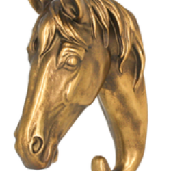 Wall Hook - Golden Horse - Rosie's Gifts and Homeware - Gift Shop NZ