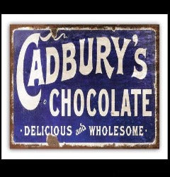 Sign - Cadburys Delicious Chocolate - Rosie's Gift Shop & Homewares