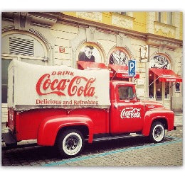 Sign - Coca Cola Truck - Rosie's Gift Shop & Homewares
