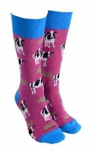 Sock Society - Socks - Cow- Purple - Rosie's Gifts and Homeware