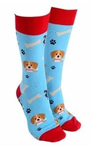 Sock Society - Socks - Dog - Aqua - Rosie's Gifts and Homeware