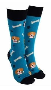 Sock Society - Socks - Dog - Green - Rosie's Gifts and Homeware
