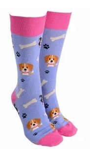 Sock Society - Socks - Dog - Purple - Rosie's Gifts and Homeware