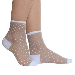 Socks - White/dotty -  Rosie's Gift Shop and Homeware - Womens Fashion