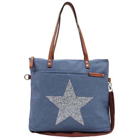 Sassy Duck Star Power Tote bag- Denim - Rosie's Gifts and Homeware