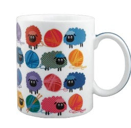 Mug - Woolly Bright Sheep - Rosie's Gifts and Homeware - Gift Shop NZ