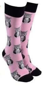 Sock Society - Socks - Owl - Pink - Rosie's Gifts and Homeware