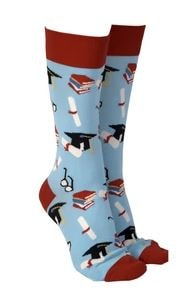 Sock Society - Socks - Graduation - Aqua - Rosie's Gifts and Homeware
