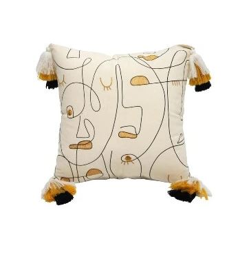 Stoneleigh & Roberson Cushion - White Pattern- Rosies fidts and homeeware