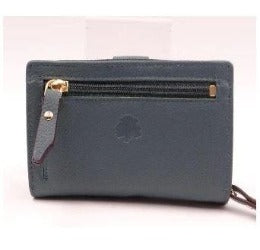 Wallet - Soft Genuine Leather -  Petrol