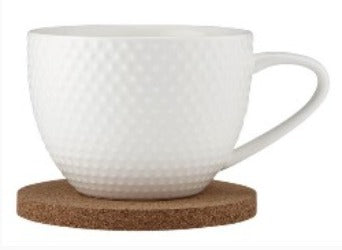 Adobe Textured Mug & Coaster Set - White - Rosie's Gifts and Homeware