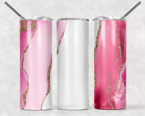 Custom Pink Wrap For Sublimation Tumbler-131