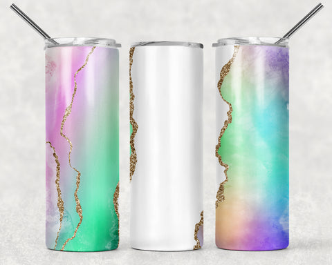Custom Watercolor Wrap For Sublimation Tumbler-133