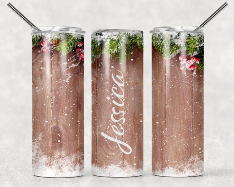 Mistletoe Wrap For Sublimation Tumbler-13