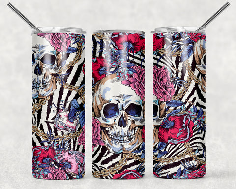 Sugar Skull Wrap For Sublimation Tumbler-167