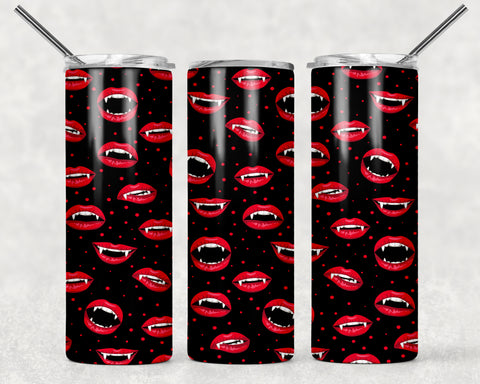 Vampire Teeth Wrap For Sublimation Tumbler-172
