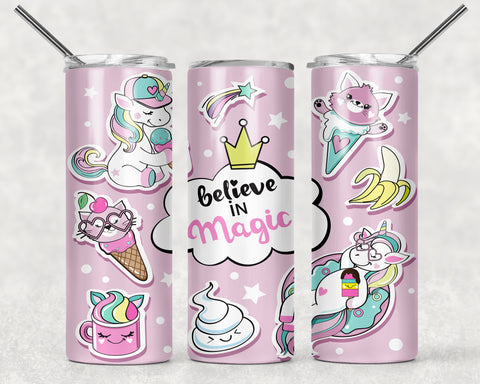 Believe in Magic Wrap For Sublimation Tumbler-193