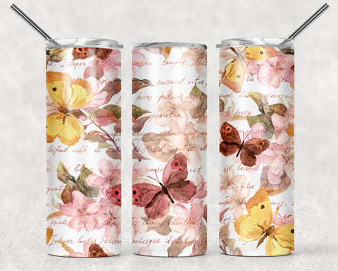Butterfly 2 Wrap For Sublimation Tumbler-19