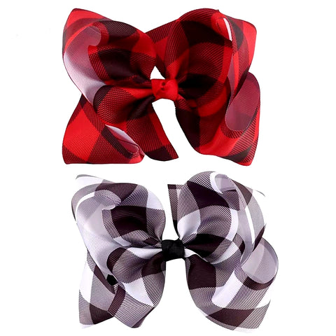 "Kid's - Plaid 6"" bow"
