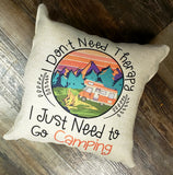 Burlap Sublimation pillow