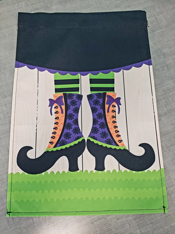 Witch Feet Garden Flag