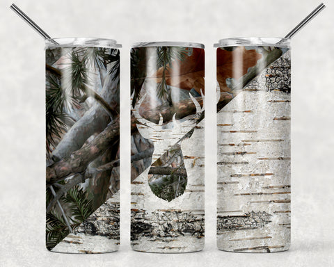 Hunting Design Wrap For Sublimation Tumbler-20