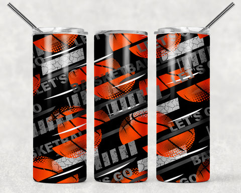Lets go Basketball Wrap For Sublimation Tumbler-210