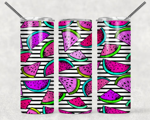 Colorful Watermelon Wrap For Sublimation Tumbler-212