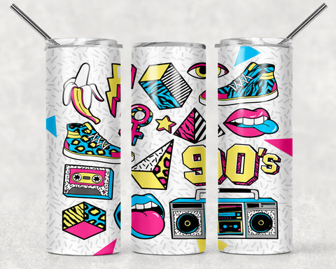 90s Kid Wrap For Sublimation Tumbler-215