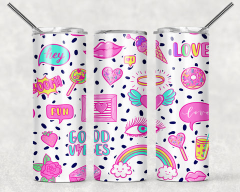Girly Vibes 2 Wrap For Sublimation Tumbler-221