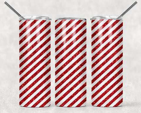 Candy Cane Wrap For Sublimation Tumbler-265