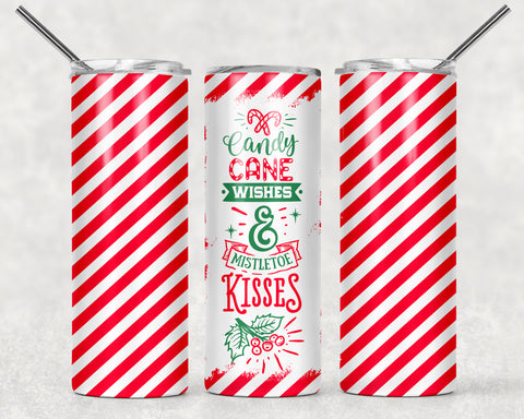Candy Cane 2 Wrap For Sublimation Tumbler-313