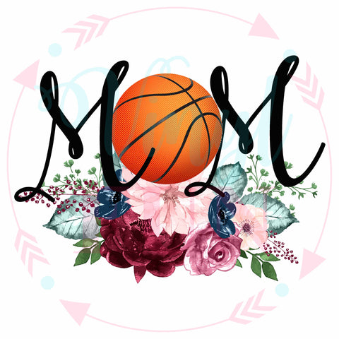 Basketball Floral Mom-Digital Download
