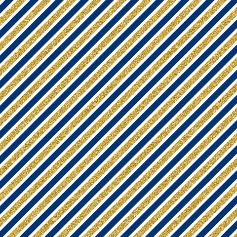 Stripes - Blue& Gold
