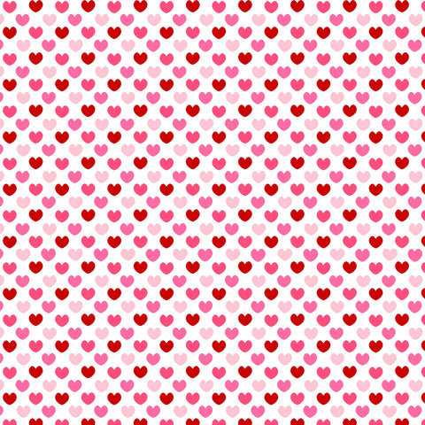 Valentine's pink and red Hearts