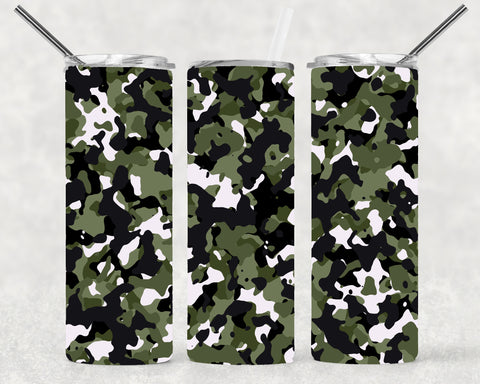 Camo Green Wrap For Sublimation Tumbler-VF1