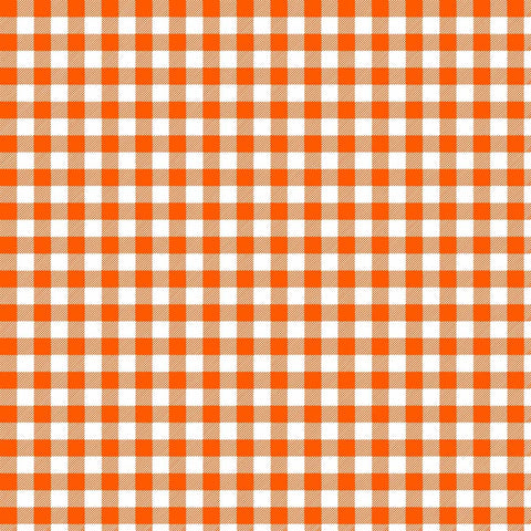 Orange and White Plaid