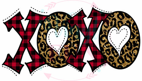 Plaid And Leopard XOXO-H107