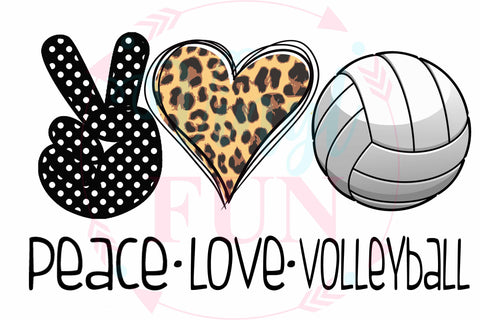 Peace Love Volleyball-Digital Download