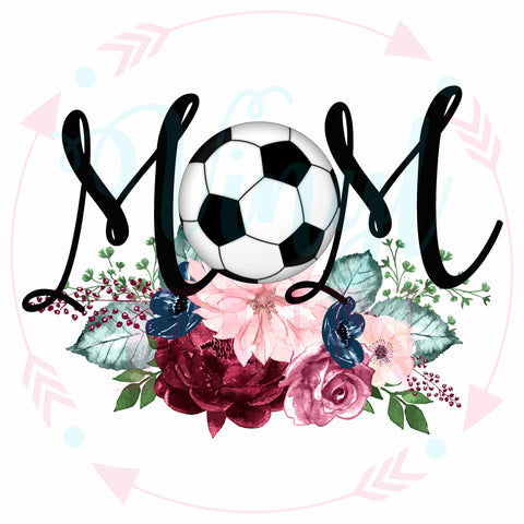 Soccer Floral Mom-Digital Download