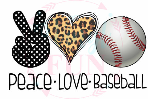 Peace Love Baseball-Digital Download