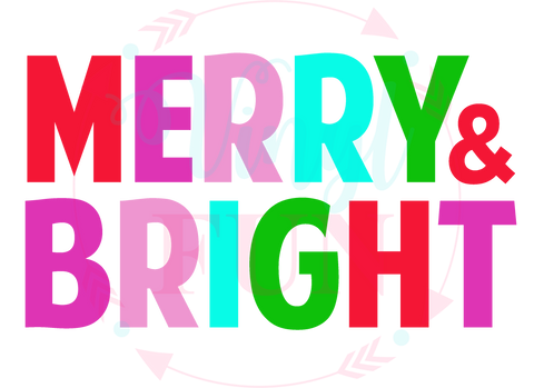 Merry and Bright Solid Letters