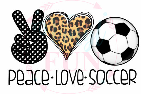 Peace Love Soccer-Digital Download